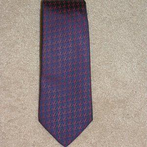 "Hermes Blue ""H"" Pattern Classic Width Tie 7903 MA"